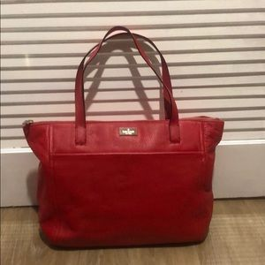 Kate Spade ♠️ Red Leather tote